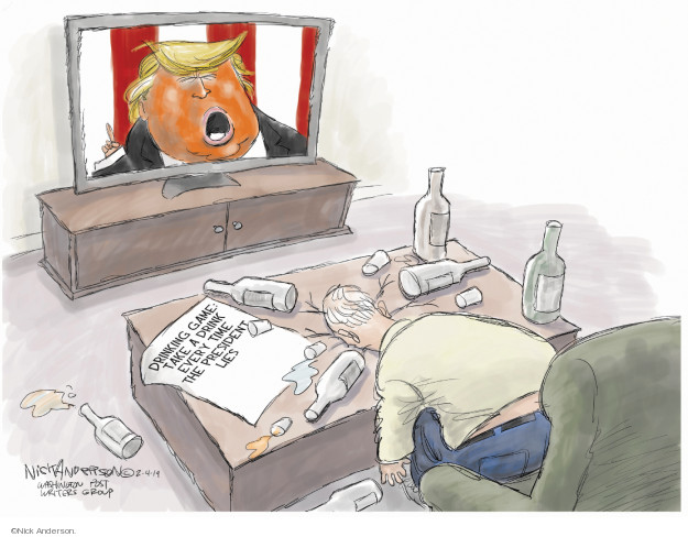 Cartoonist Nick Anderson  Nick Anderson's Editorial Cartoons 2019-02-05 State of the Union