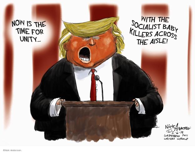 Cartoonist Nick Anderson  Nick Anderson's Editorial Cartoons 2019-02-06 abortion