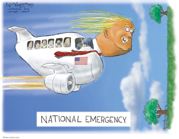 Nick Anderson  Nick Anderson's Editorial Cartoons 2019-02-17 Trump Immigration