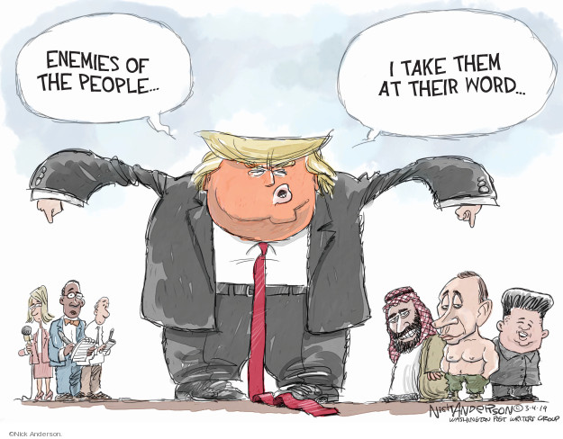 Cartoonist Nick Anderson  Nick Anderson's Editorial Cartoons 2019-03-04 media