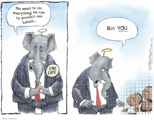 Cartoonist Nick Anderson  Nick Anderson's Editorial Cartoons 2019-03-12 abortion