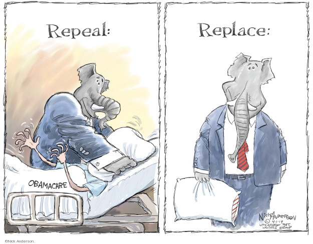 Nick Anderson  Nick Anderson's Editorial Cartoons 2019-04-01 health care plan