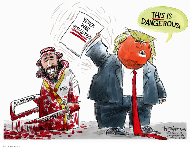This is dangerous. Yemen War Resolution. Khashoggi. Yemen. MBS.