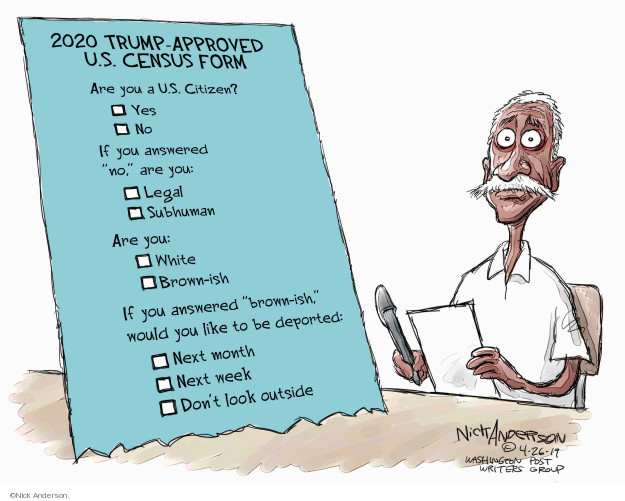 Cartoonist Nick Anderson  Nick Anderson's Editorial Cartoons 2019-04-26 Donald Trump