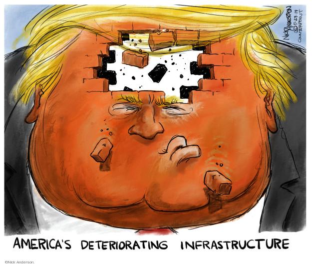 Cartoonist Nick Anderson  Nick Anderson's Editorial Cartoons 2019-05-29 Donald Trump