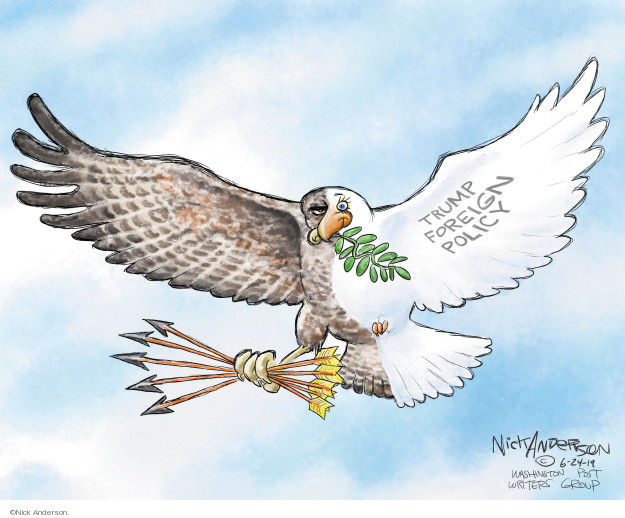 Nick Anderson  Nick Anderson's Editorial Cartoons 2019-06-24 war