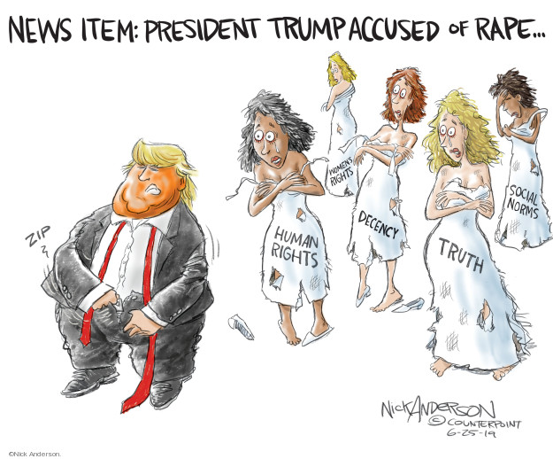 Cartoonist Nick Anderson  Nick Anderson's Editorial Cartoons 2019-06-26 accusation