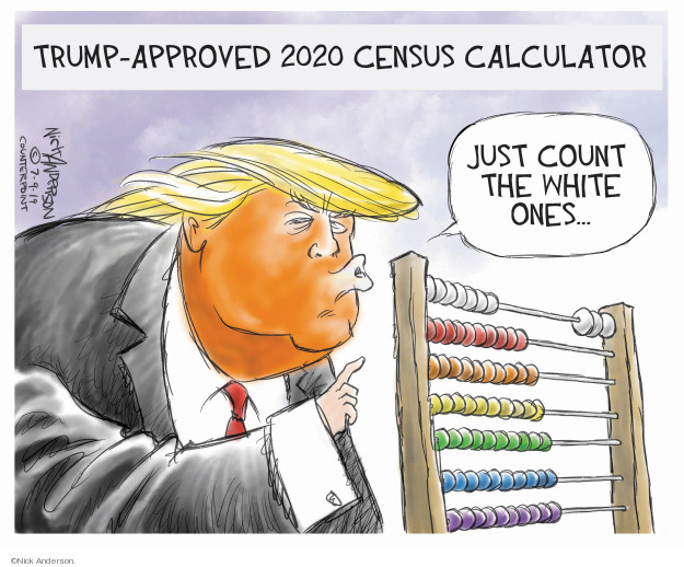 Nick Anderson  Nick Anderson's Editorial Cartoons 2019-07-11 racism
