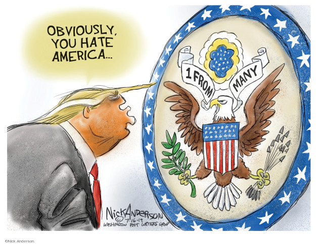 Cartoonist Nick Anderson  Nick Anderson's Editorial Cartoons 2019-07-16 media