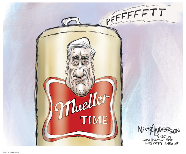 Cartoonist Nick Anderson  Nick Anderson's Editorial Cartoons 2019-07-25 congressional hearing