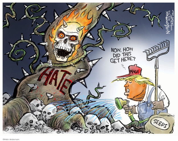 Cartoonist Nick Anderson  Nick Anderson's Editorial Cartoons 2019-08-07 white nationalism