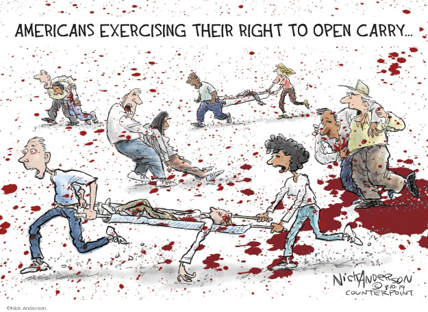 Nick Anderson  Nick Anderson's Editorial Cartoons 2019-08-10 mass shooting