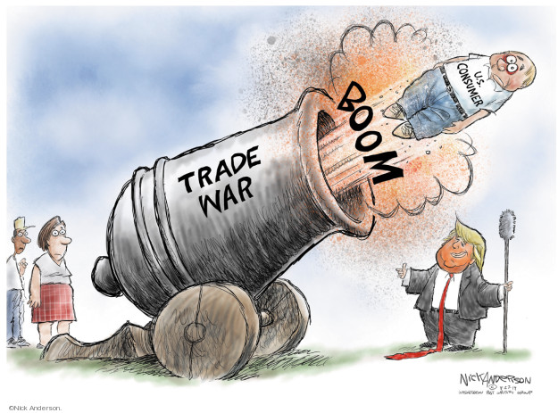 Nick Anderson  Nick Anderson's Editorial Cartoons 2019-08-28 Donald Trump tariff