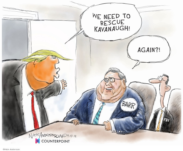 Cartoonist Nick Anderson  Nick Anderson's Editorial Cartoons 2019-09-18 accusation