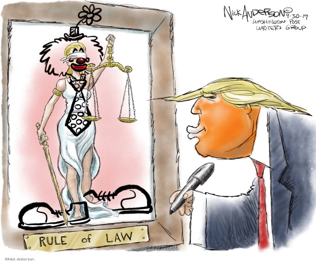 Nick Anderson  Nick Anderson's Editorial Cartoons 2019-09-30 political scandal