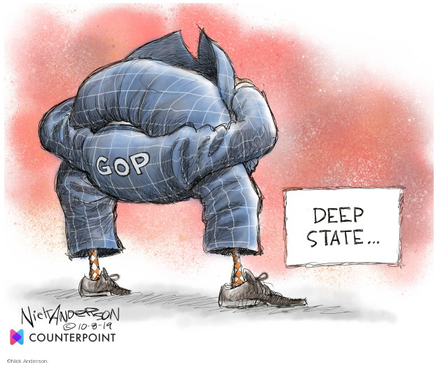 Cartoonist Nick Anderson  Nick Anderson's Editorial Cartoons 2019-10-08 party