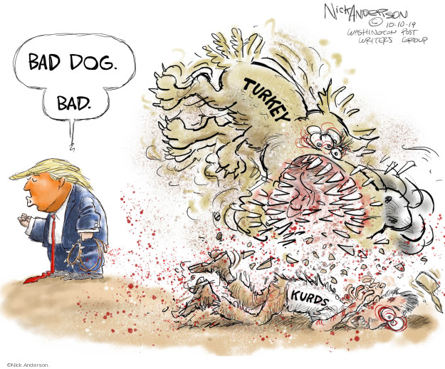Cartoonist Nick Anderson  Nick Anderson's Editorial Cartoons 2019-10-10 invasion