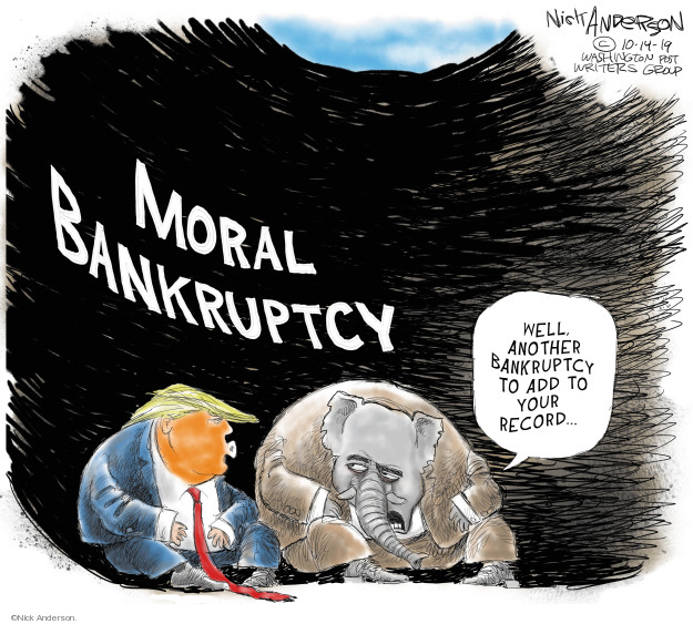 Cartoonist Nick Anderson  Nick Anderson's Editorial Cartoons 2019-10-14 party