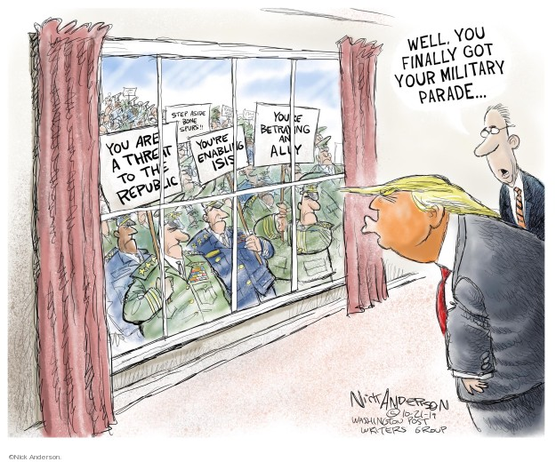 Cartoonist Nick Anderson  Nick Anderson's Editorial Cartoons 2019-10-21 assault