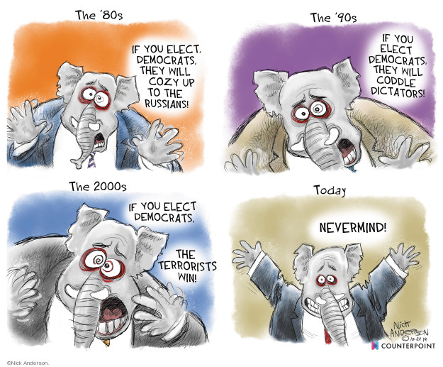 Cartoonist Nick Anderson  Nick Anderson's Editorial Cartoons 2019-10-23 party