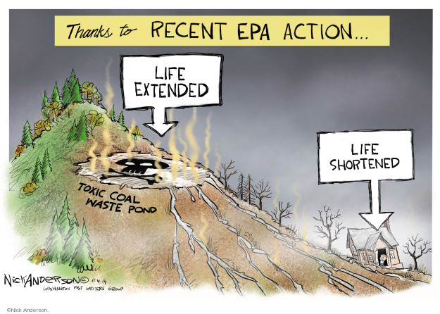 Nick Anderson  Nick Anderson's Editorial Cartoons 2019-11-05 Environmental Protection Agency
