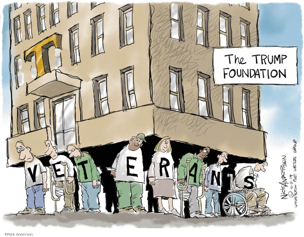 Cartoonist Nick Anderson  Nick Anderson's Editorial Cartoons 2019-11-11 business
