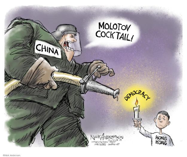 Cartoonist Nick Anderson  Nick Anderson's Editorial Cartoons 2019-11-19 military