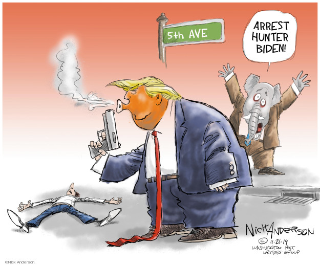 Cartoonist Nick Anderson  Nick Anderson's Editorial Cartoons 2019-11-21 2020 election