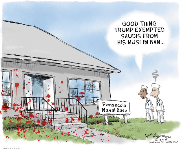 Cartoonist Nick Anderson  Nick Anderson's Editorial Cartoons 2019-12-10 shooting