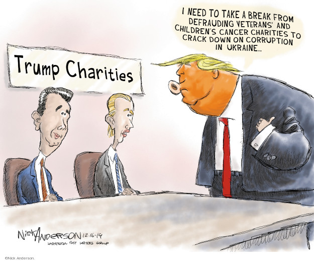 Nick Anderson  Nick Anderson's Editorial Cartoons 2019-12-17 Trump Family
