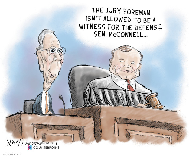 Cartoonist Nick Anderson  Nick Anderson's Editorial Cartoons 2019-12-18 trial