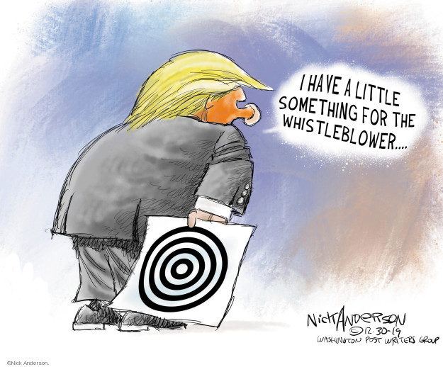 Cartoonist Nick Anderson  Nick Anderson's Editorial Cartoons 2019-12-30 rhetoric
