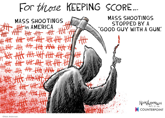 Cartoonist Nick Anderson  Nick Anderson's Editorial Cartoons 2020-01-03 shooting