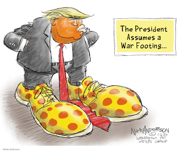 Nick Anderson  Nick Anderson's Editorial Cartoons 2020-01-06 international relations