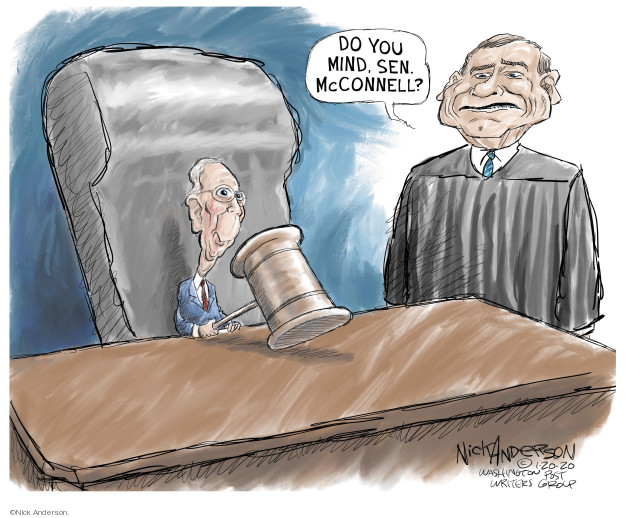 Nick Anderson  Nick Anderson's Editorial Cartoons 2020-01-20 Mitch McConnell