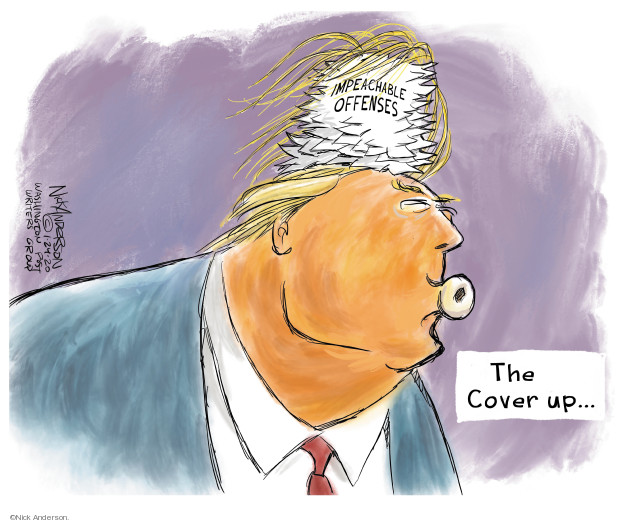 Nick Anderson  Nick Anderson's Editorial Cartoons 2020-01-24 political scandal