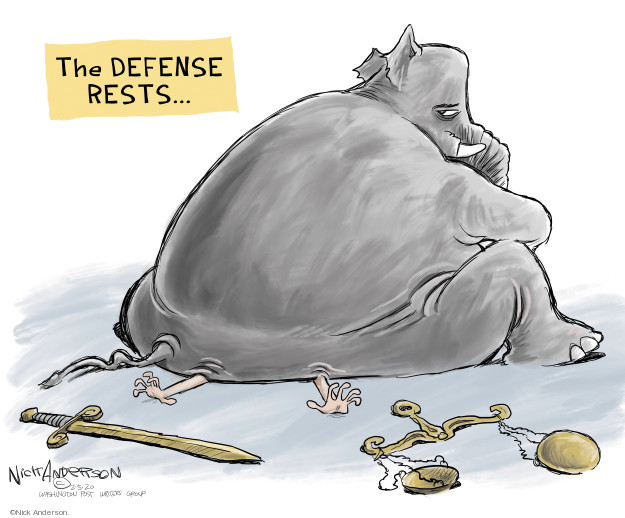 Nick Anderson  Nick Anderson's Editorial Cartoons 2020-02-05 impeachment