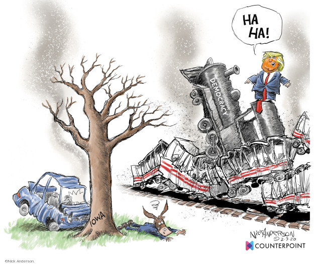 Nick Anderson  Nick Anderson's Editorial Cartoons 2020-02-07 democracy