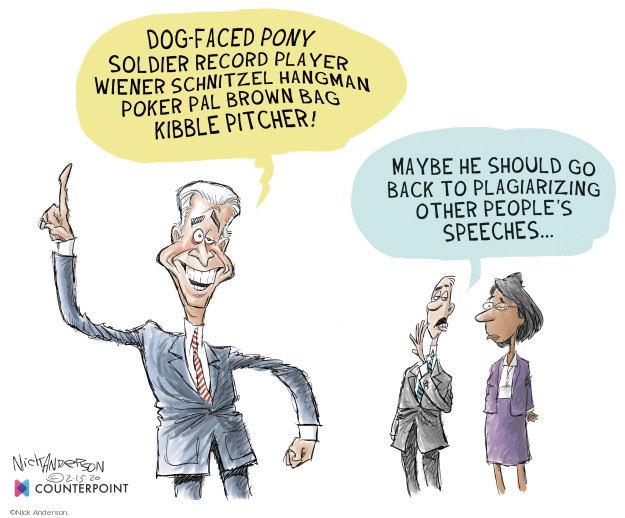 Cartoonist Nick Anderson  Nick Anderson's Editorial Cartoons 2020-02-15 rhetoric