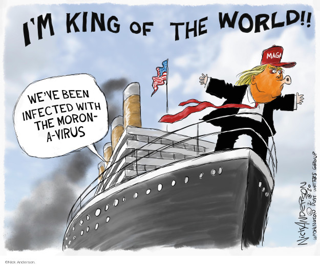 Cartoonist Nick Anderson  Nick Anderson's Editorial Cartoons 2020-02-18 power