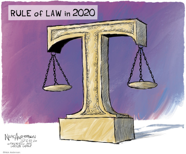 Nick Anderson  Nick Anderson's Editorial Cartoons 2020-02-22 justice