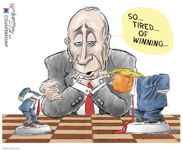 Nick Anderson  Nick Anderson's Editorial Cartoons 2020-02-28 Donald Trump Vladimir Putin