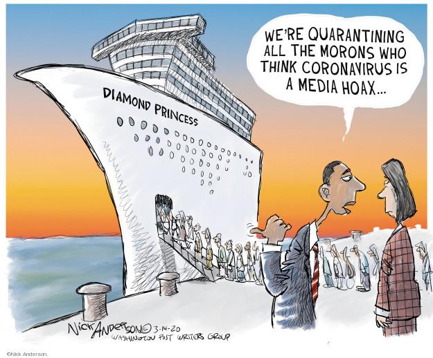 Cartoonist Nick Anderson  Nick Anderson's Editorial Cartoons 2020-03-14 political media