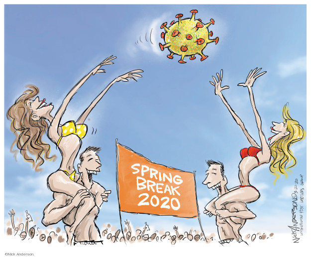 Cartoonist Nick Anderson  Nick Anderson's Editorial Cartoons 2020-03-20 disease