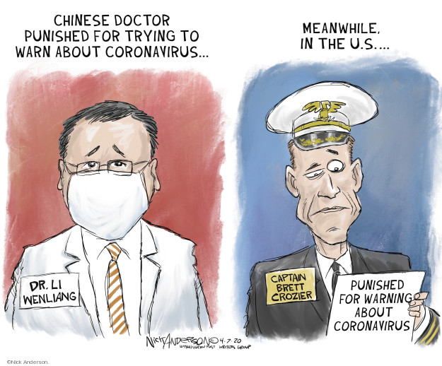 Nick Anderson  Nick Anderson's Editorial Cartoons 2020-04-07 illness