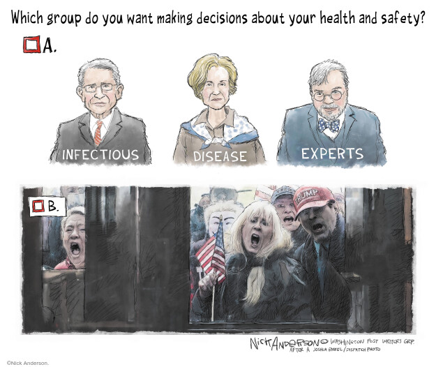 Cartoonist Nick Anderson  Nick Anderson's Editorial Cartoons 2020-04-21 public health
