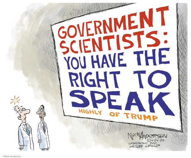Cartoonist Nick Anderson  Nick Anderson's Editorial Cartoons 2020-04-24 government