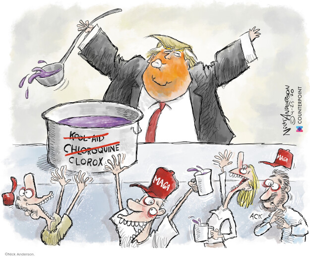 Cartoonist Nick Anderson  Nick Anderson's Editorial Cartoons 2020-04-25 public health