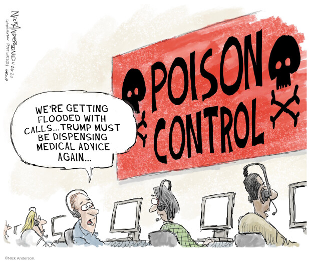 Cartoonist Nick Anderson  Nick Anderson's Editorial Cartoons 2020-04-26 public health