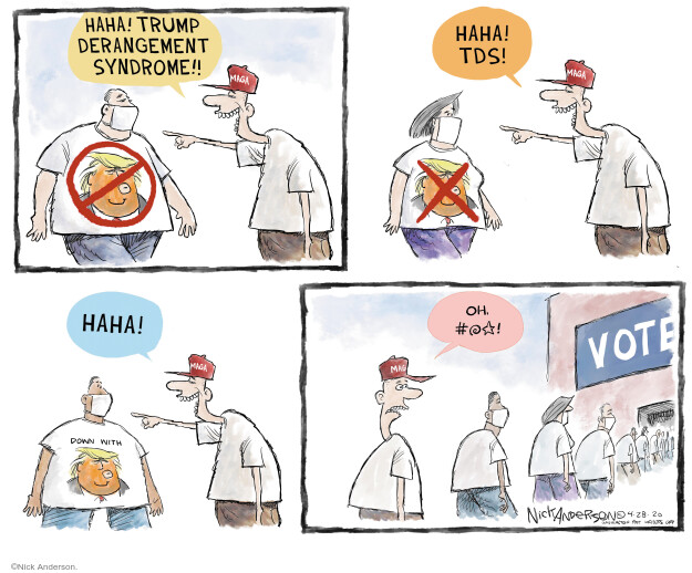 Cartoonist Nick Anderson  Nick Anderson's Editorial Cartoons 2020-04-28 public health